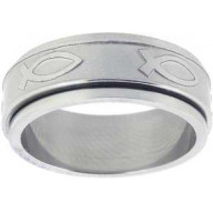 Ichtus IV - prsteň z chir. ocele (PR01)