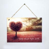 Tabuľka - Boh na teba myslí s láskou - A4