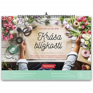Kalendár Martindom 2018: Krása blízkosti (nástenný)