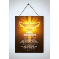 Tabuľka - Modlitba k Duchu Svätému - veľká