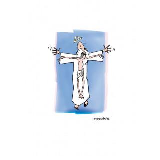 Veľkonočná pohľadnica - Otec a syn