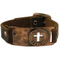 Kožený náramok - Verím v Boha (NM72)