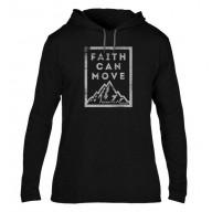 Faith Can Move - Pánska mikina s kapucňou