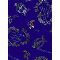 Biblický šál Pieseň piesní, modrý (IZ224)