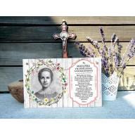 Tabuľka - Modlitba k bl. Anne Kolesárovej