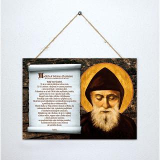 Kniha Tabuľka - Modlitba k sv. Charbelovi