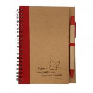 Zápisník s perom: Dám ti múdrosť... - červený