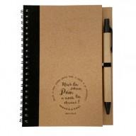 Zápisník s perom: Nech ťa žehná... - čierny