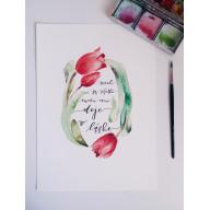 Nech sa všetko medzi vami deje v láske - Art print