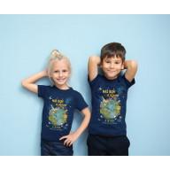 Detské tričko - Náš Boh je úžasný / modré