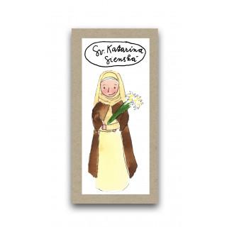 Záložka - Svätá Katarína Sienská