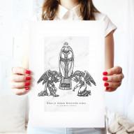 Kňaz je láskou Kristovho srdca - Art print