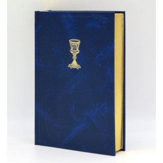 Biblia ECAV s kalichom zlatorez – tmavomodrá