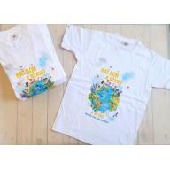 Detské tričko - Náš Boh je úžasný / biele
