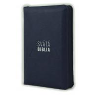 Biblia, Roháček, 2020, tmavomodrá, so zipsom, s indexmi