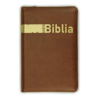 Biblia, Roháček, 2020, hnedá, so zipsom, s indexmi