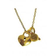 Stráž si srdce - kovový náhrdelník (NH57)