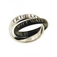 Pravdivá láska - prsteň z chirurg. ocele (PR31)