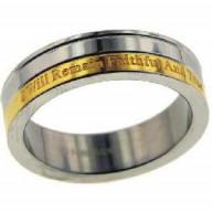 Pravdivý a verný - prsteň z chir. ocele (PR34)