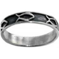 Rybka štýl 404 - strieborný prsteň (PR42) - posledný kus 55mm