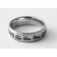 Pravdivá láska 2 - prsteň z chirurg. ocele (PR44)