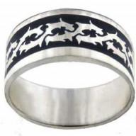 Ukrižovaný - prsteň z chirurg. ocele (PR50)