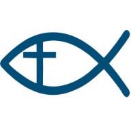 Autonálepka Ichtus a kríž, Rybka a kríž (AN002)