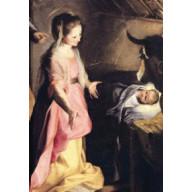 Vianočná pohľadnica Mária a dieťa
