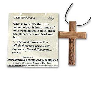 Kríž z olivového dreva - prívesok - Izrael. (IZ094)