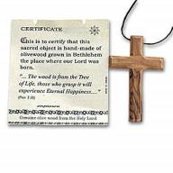 Kríž z olivového dreva - prívesok - Izrael. Iz094.