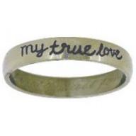 Moja pravdivá láska - prsteň z chirurg. ocele (PR56)