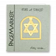 Záložka Dávidova hviezda. Pozlátená 24K. (IZ100)