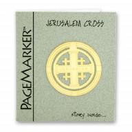 Záložka Jeruzalemsky kríž. Pozlátená 24K. (IZ101)