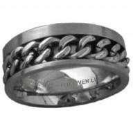 Okovy - prsteň z chirurgickej ocele (PR59)