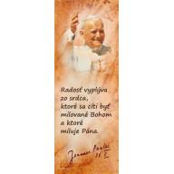 Textilná záložka Ján Pavol II, Radosť