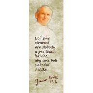 Textilná záložka Ján Pavol II, Sloboda