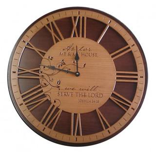 Nástenné hodiny Jozue drevené ... ad472071dc6