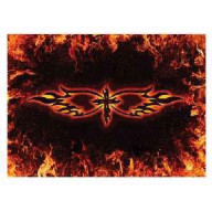 Nálepka na notebook - Kríž a plamene