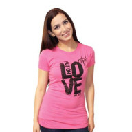 Dámske tričko - Obleč si lásku (TD036) - posledný kus (veľkosť L)