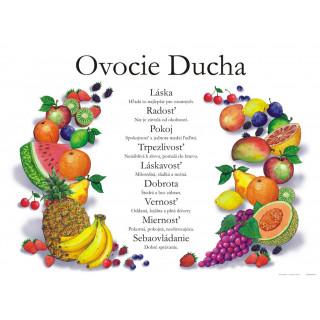 Plagát Ovocie Ducha (01) s pracovnými listami