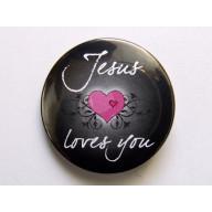 Odznak - Jesus Loves You, 3,7cm