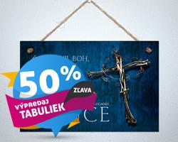 Výpredaj tabuliek –50%